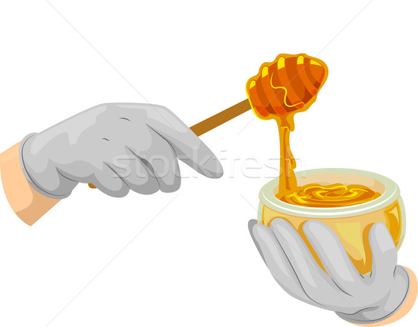 Hand Gloves Honey Stock photo © lenm
