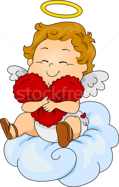 Baby Cupid Pillow Stock photo © lenm