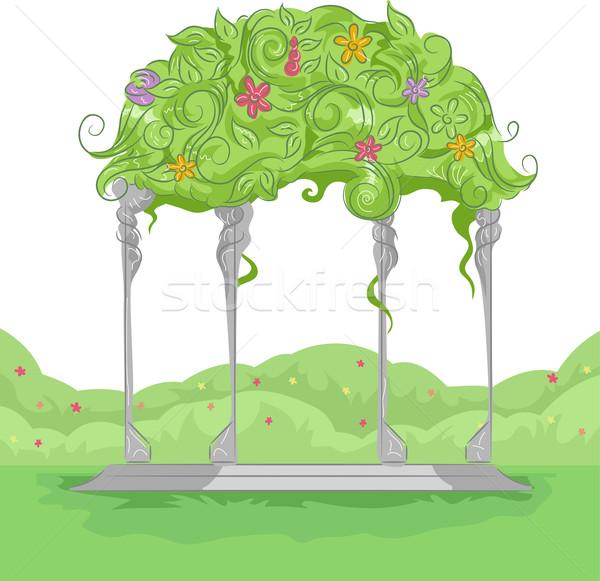 Fiori illustrazione giardino colorato crescita Foto d'archivio © lenm