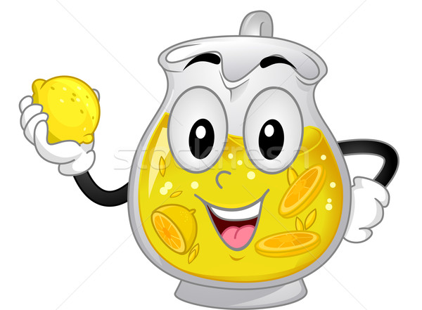 Limonade mascotte illustratie citroen kunst Stockfoto © lenm