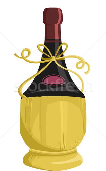 Wine Fiasco Basket Packaging Stock photo © lenm