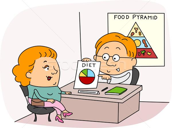 Dietista ilustração trabalhar mulher homem feminino Foto stock © lenm
