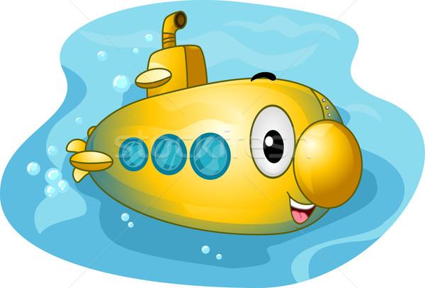 подводная лодка талисман иллюстрация красочный морем подводного Сток-фото © lenm