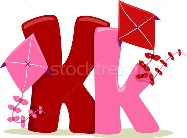Mektup örnek oyuncak okuma öğrenme karikatür Stok fotoğraf © lenm
