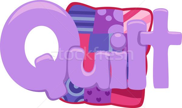 текста иллюстрация слово образование письме Сток-фото © lenm