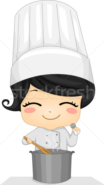 Little Chef Girl Stock photo © lenm