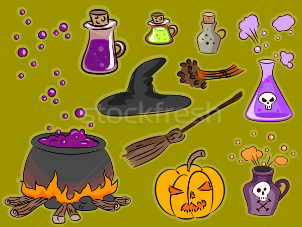 Witchcraft Design Elements Stock photo © lenm