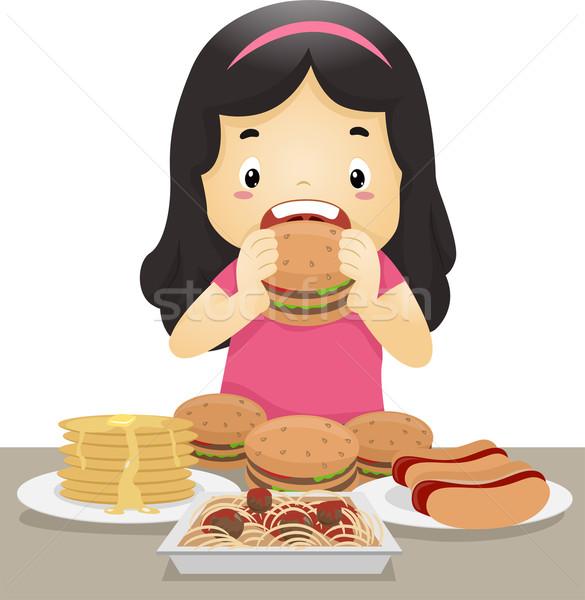 Eating Girl Stock photo © lenm
