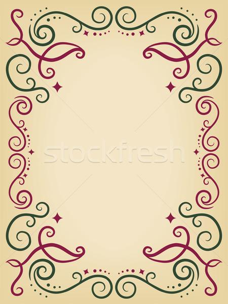 декоративный кадр иллюстрация цифровой шаблон Сток-фото © lenm