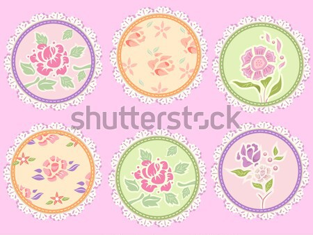 Shabby Chic Labels Stock photo © lenm