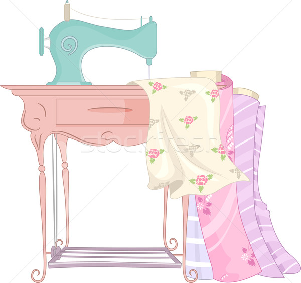 Shabby Chic Sewing Machine Stock photo © lenm