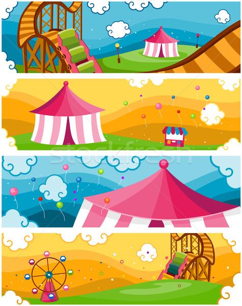 Theme Park Banners Stock photo © lenm