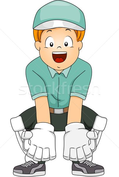 Kriket erkek örnek dişli çocuk spor Stok fotoğraf © lenm