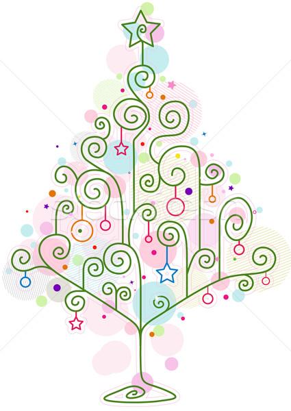 Noel ağacı dizayn soyut biçim Noel Stok fotoğraf © lenm