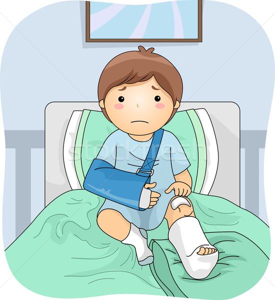 Injured Boy Stock photo © lenm