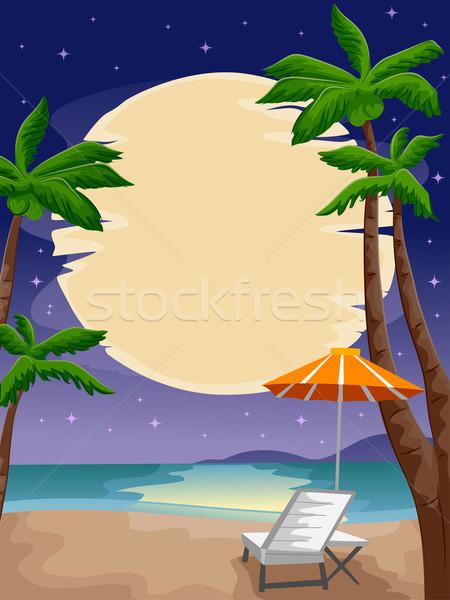Beach Moon Stock photo © lenm