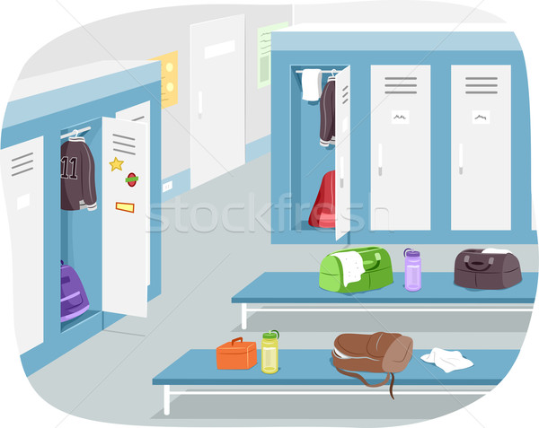 Male Locker Room Stock photo © lenm