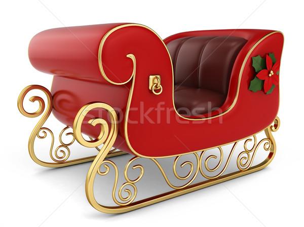 Karácsony szánkó 3d illusztráció ünnepek izolált illusztráció Stock fotó © lenm