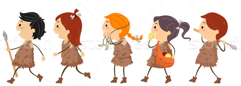 Stock photo: Stone Age Kids