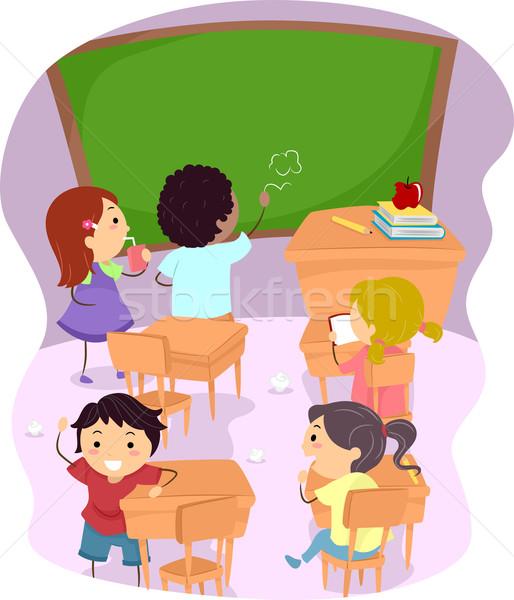 Classroom Disaster Stock photo © lenm