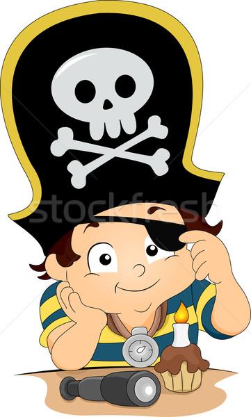 Pirate Boy Birthday Stock photo © lenm
