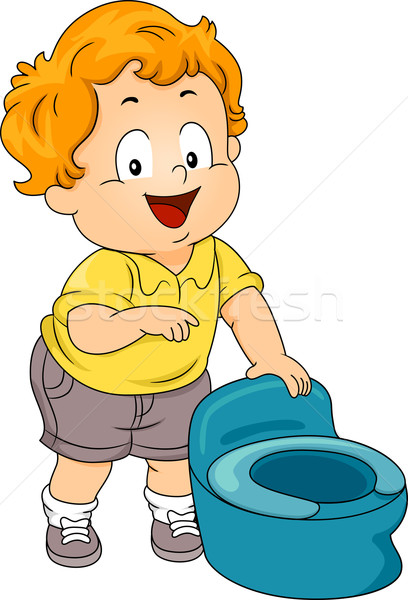 Potty Toddler Stock photo © lenm