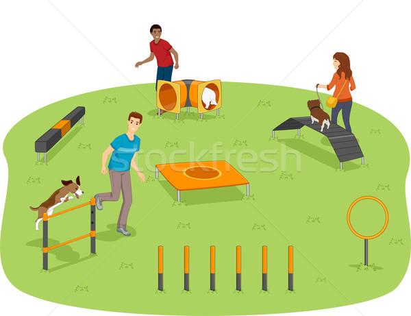 Dog Agility Test Stock photo © lenm