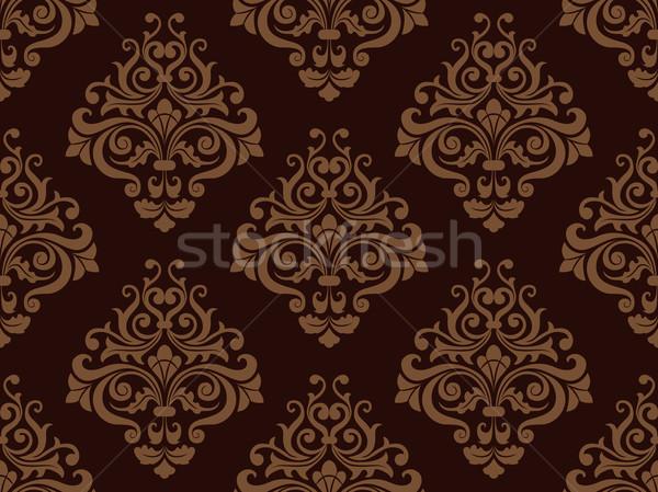 Stock photo: Seamless Damask Pattern