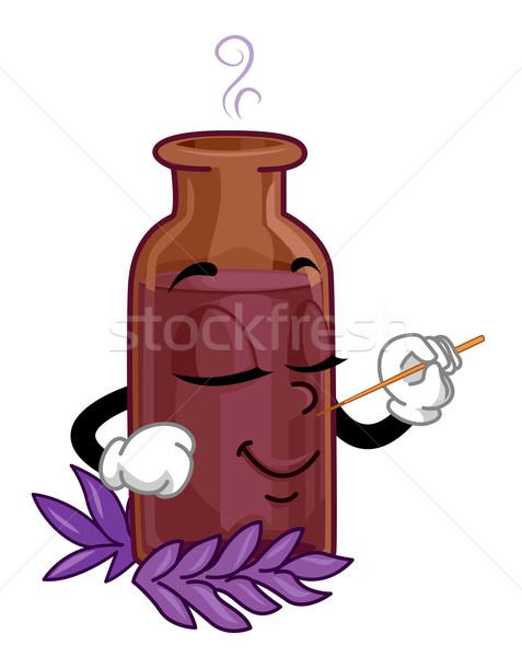 Organiczny perfum maskotka ilustracja clipart Zdjęcia stock © lenm