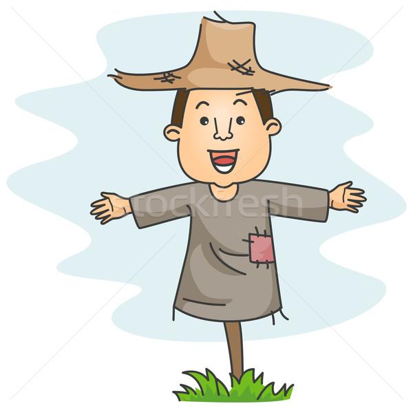 かかし 農家 ポーズ 着用 服 帽子 ストックフォト © lenm