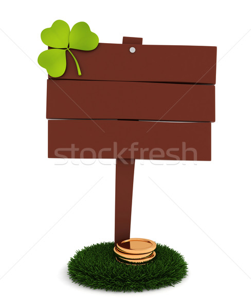 St. Patrick Board Stock photo © lenm