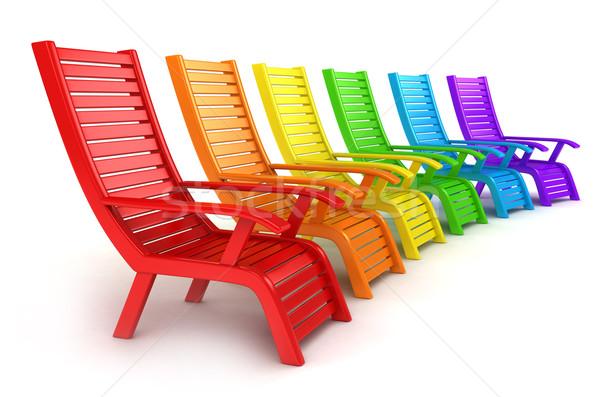 Beach Chairs Stock photo © lenm