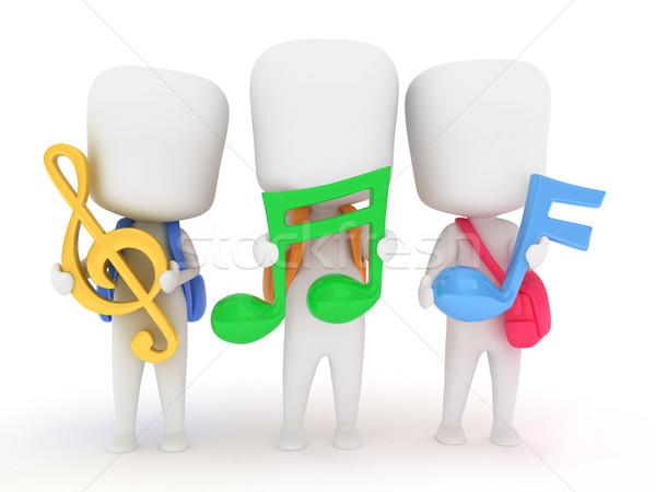 Musical Notes Stock photo © lenm