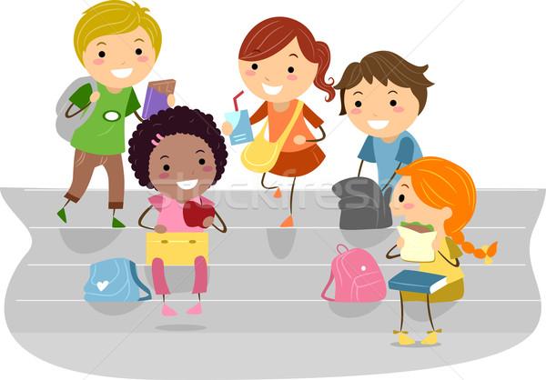 Kids Recess Stock photo © lenm