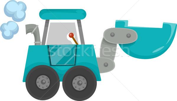 Ekskavatör karikatür örnek inşaat dizayn Stok fotoğraf © lenm