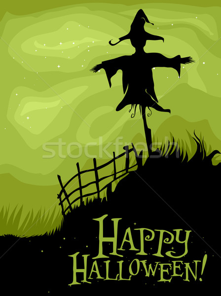 Halloween Scarecrow Stock photo © lenm