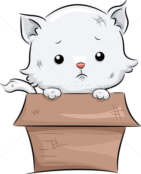 Sad Cat Stock photo © lenm