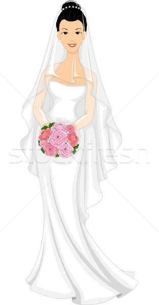 Asian Bride Stock photo © lenm
