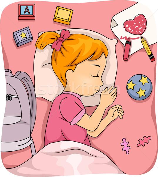 Sleeping Girl Stock photo © lenm