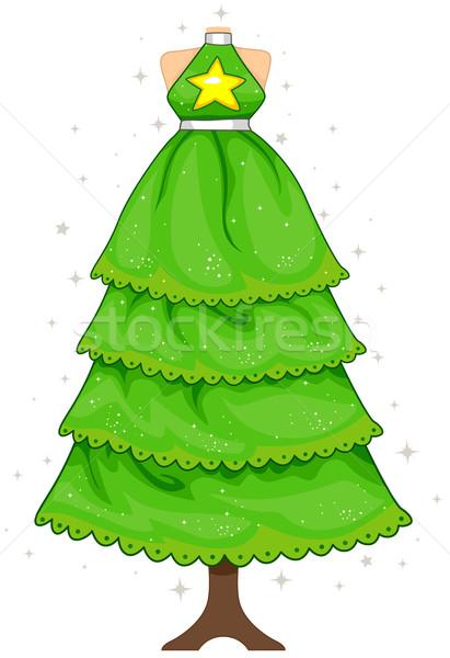 Noel ağacı dizayn Noel elbise manken durmak Stok fotoğraf © lenm