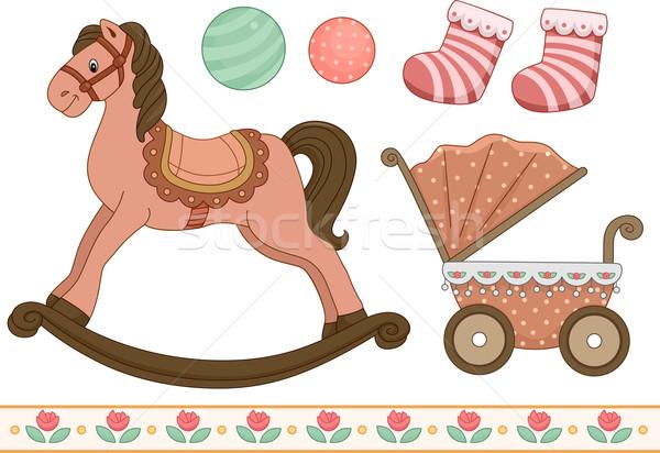 Vintage bébé style illustration différent Photo stock © lenm