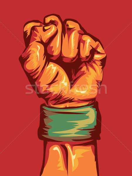 Hand Fist Stock photo © lenm