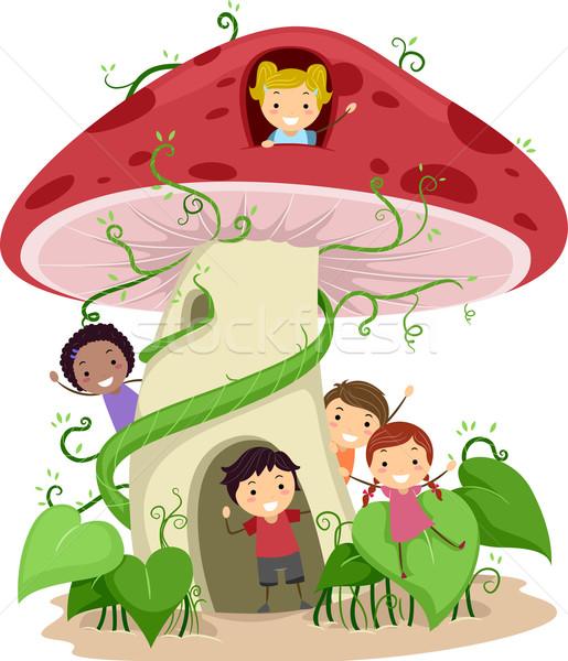 Mushroom House Stock photo © lenm