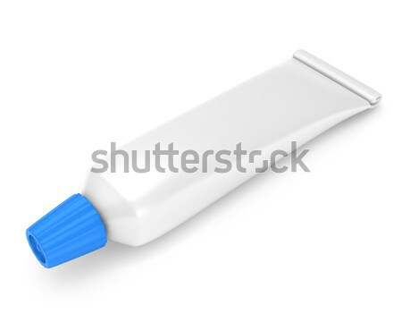 Dentifrice 3d illustration tube santé dentaires 3D Photo stock © lenm