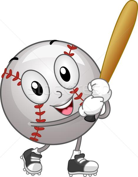 Stock fotó: Baseball · kabala · illusztráció · tart · denevér · játék