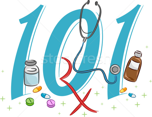Pharmacology 101 Stock photo © lenm