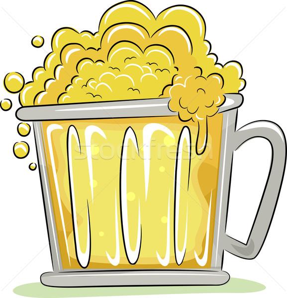 Oktoberfest cerveza taza ilustración celebración aislado Foto stock © lenm