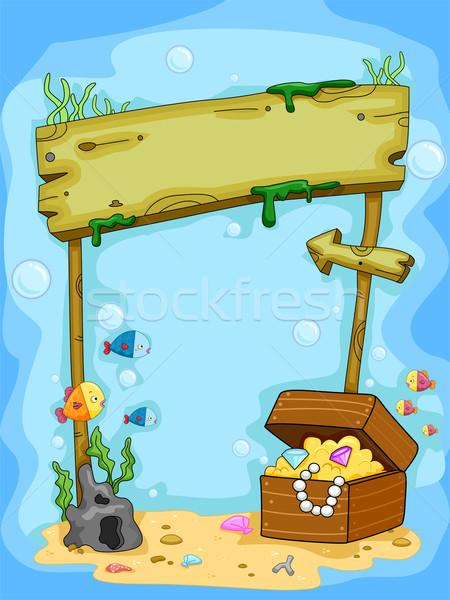 Sualtı arka plan örnek para deniz Stok fotoğraf © lenm