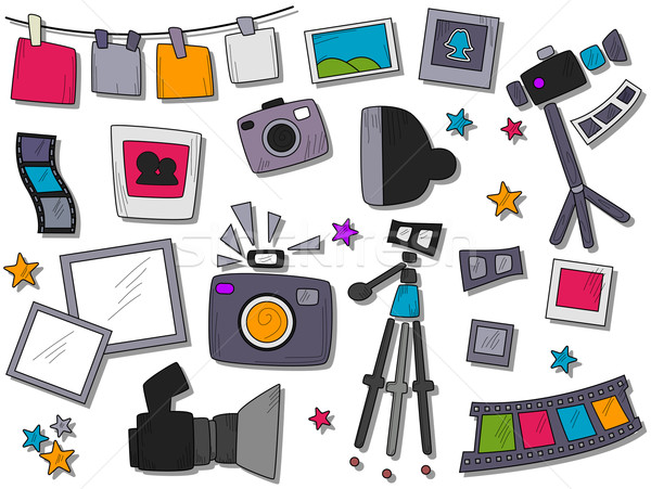 Photography Icons Stock photo © lenm