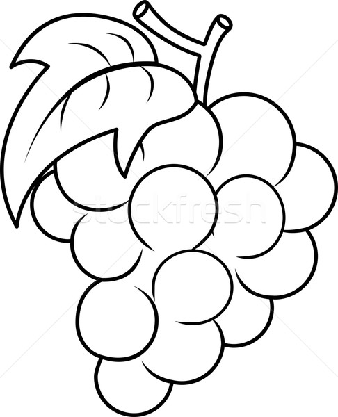 add to lightbox download comp - Grapes Coloring Page